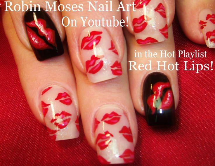 2 Nail Art Tutorials | DIY Easy Nail Art for Beginners | Red Hot Kiss Nails