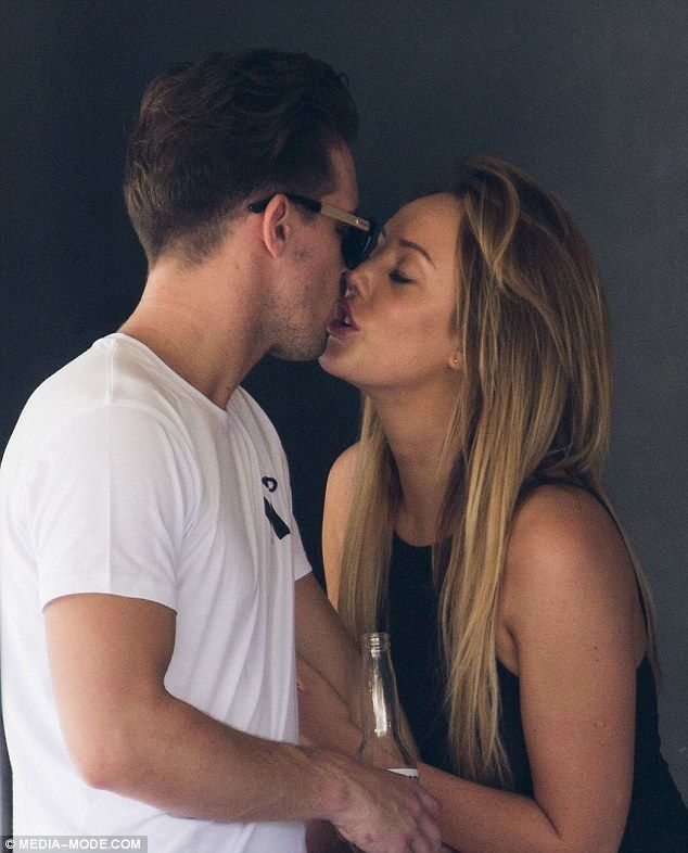 She can't keep her lips of him! Geordie Shore couple Charlotte Crosby and Gaz Beadle share a steamy kiss while enjoying a cruise along Sydney Harbour