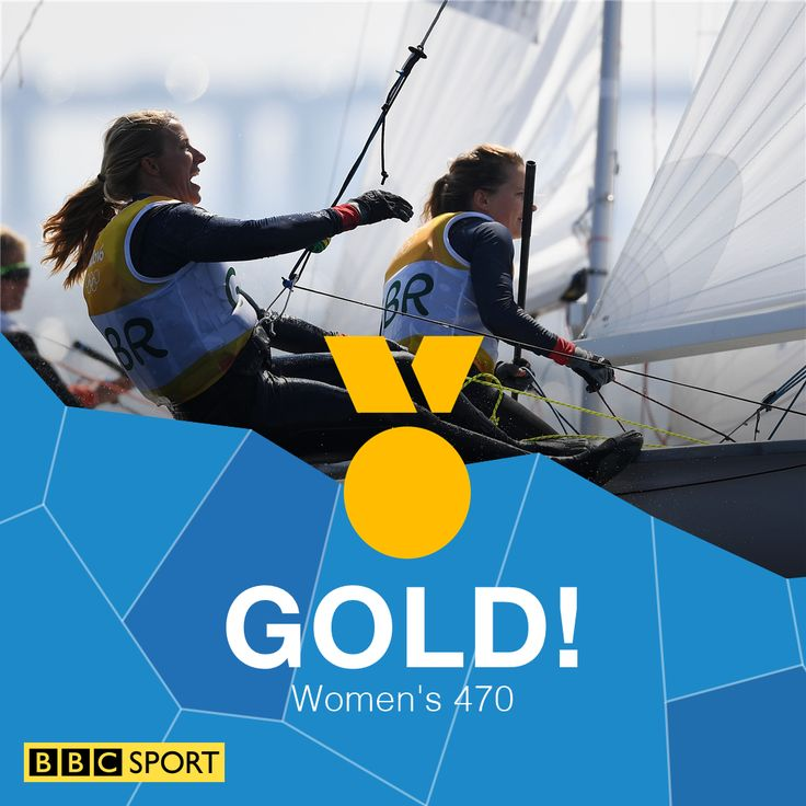 Hannah Mills and Saskia Clark win 470 sailing gold
