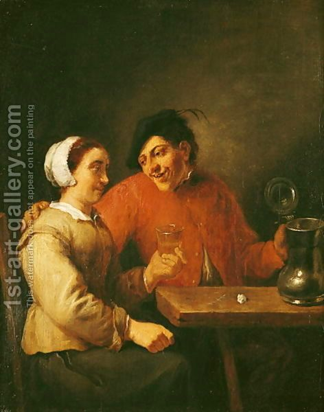 Drinkers Adriaen Brouwer | Oil Painting Reproduction | 1st-Art-Gallery.com