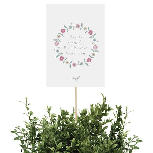 Cartel para decorar tu mesa o Candy Bar para fiestas de Primera Comunión de niñas / La Fiesta de Olivia