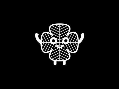 Four-leaf clover pictogram by Vera Matys
