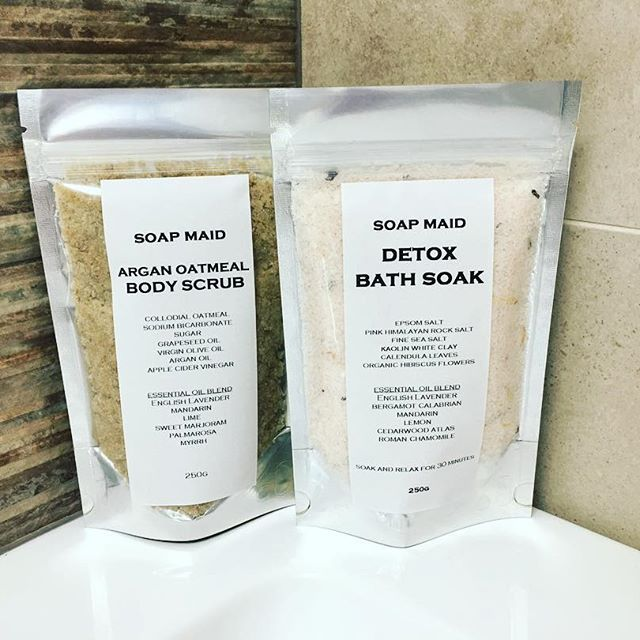 Beauty regimes made naturally and simple ! Would you like to Soak or Scrub ? You choose! So much goodness with no nasties .... now listed on Etsy.  #etsy #scrub #bodyscrub #soak #bathsalts #relax #spa #relaxation #pamper #hampers #madeinaustralia #madeinmelbourne #australia #thornbury #northcote #makeitmarket #yarraglenmarket #morningtonmarket #sistersmarket #brunswick #highstreet #preston #coburg #oats #essentialoils #naturalbeauty #sale #buyonline #melbourne #melbournemarkets