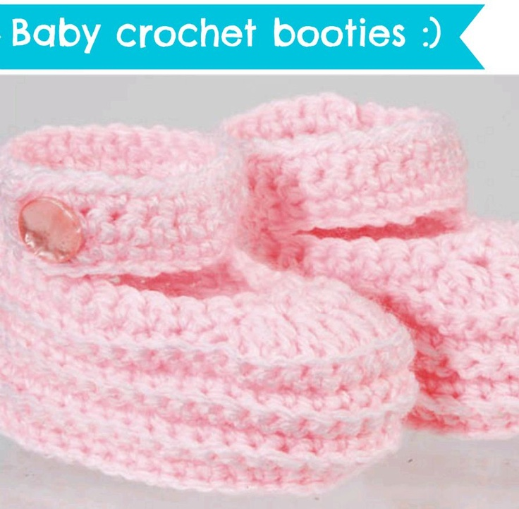 Love these crocheted baby booties!