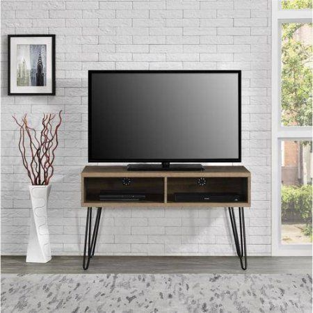 Mainstays Retro TV Stand for TVs up to 42 inch wide, Multiple Colors, Brown
