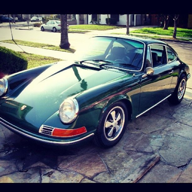 1969 Porsche 912--saw one in green at the Italian store last weekend