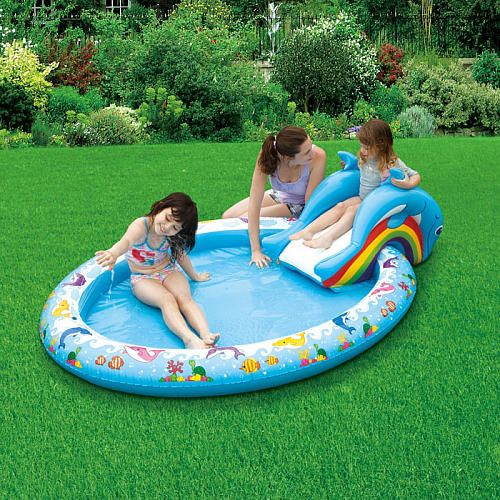 Sizzlin 39 cool slide n splash dolphin kiddie pool toys r - Toys r us swimming pools for kids ...