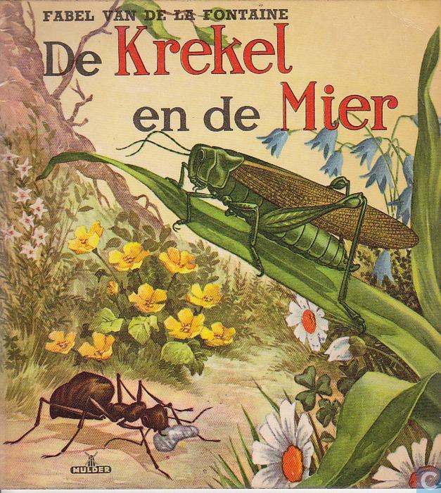 Boek - Fabel van la Fontaine - De krekel en de mier