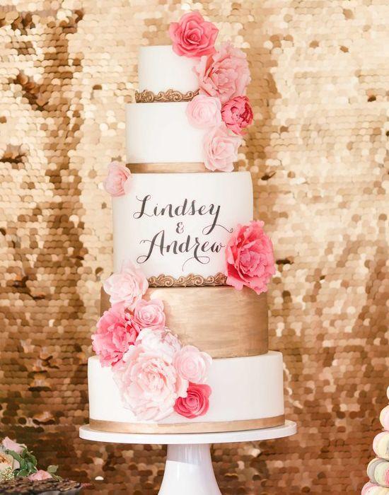 Best 25 Pink wedding cake icing ideas on Pinterest Gold wedding