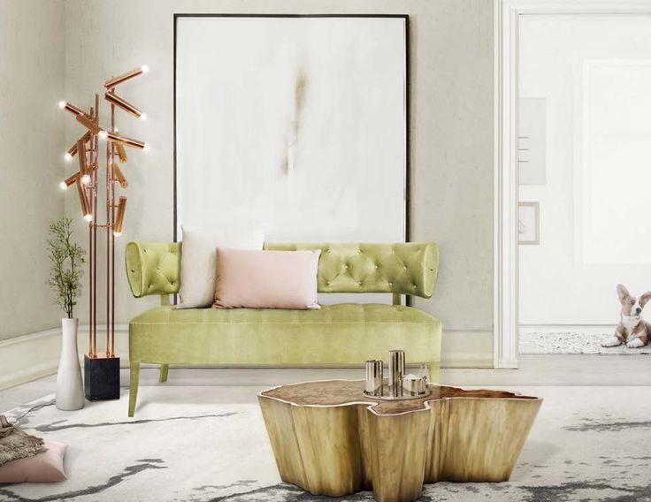ZULU 2 Seat Sofa and SEQUOIA Center Table by BRABBU Latest Sofa Designs.  #zulu #seat #yellow #sofa #livingroom