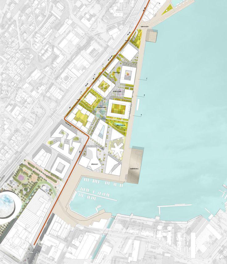 Havneparken sandnes - Situation Plan