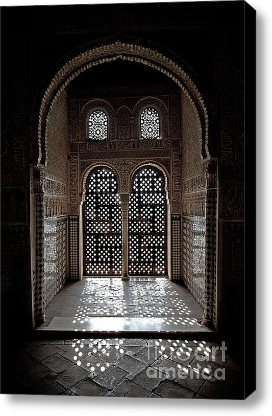 Alhambra Window Stretched Canvas Print / Canvas Art By Jane Rix