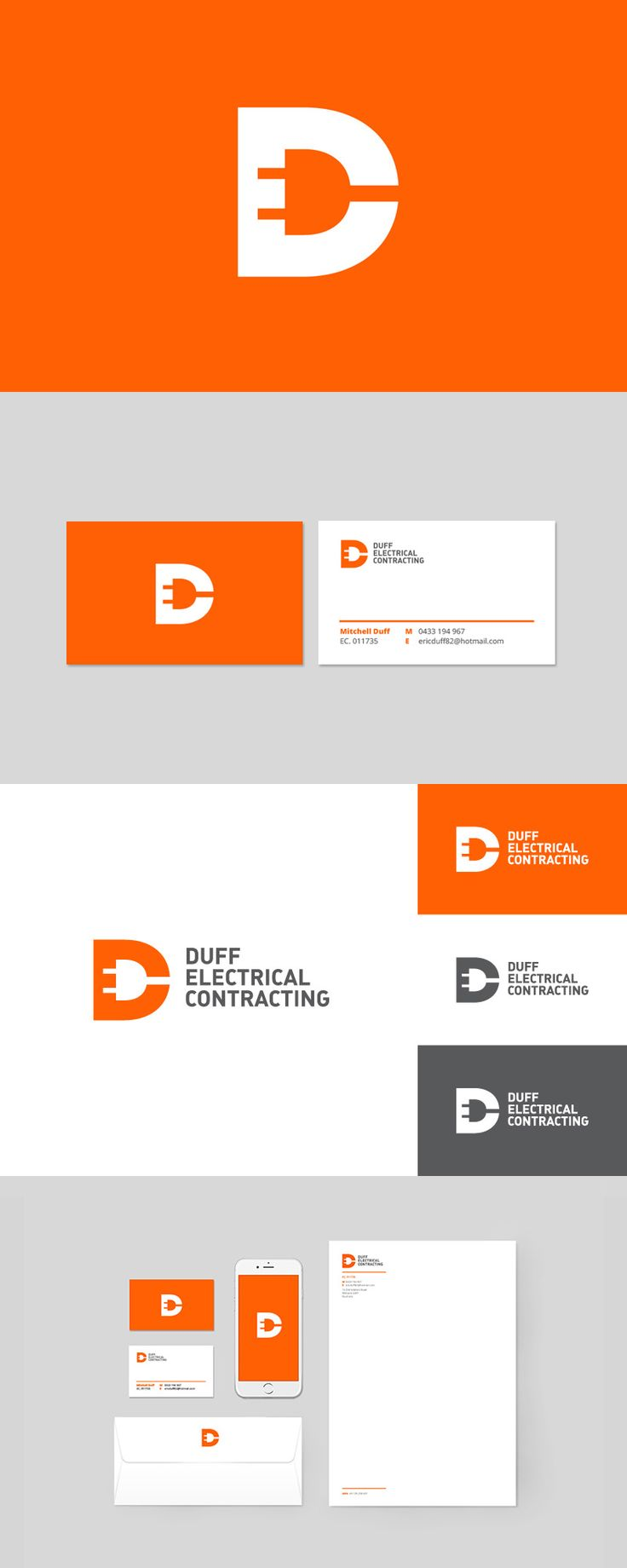 Best 25 business logo design ideas on pinterest business logos branding for duff electrical by robot eats popcorn branding design magicingreecefo Images
