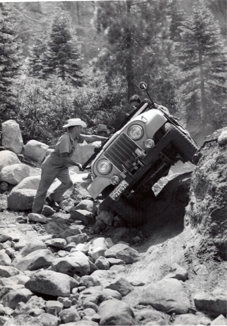 Old Jeep on Rubicon Trail