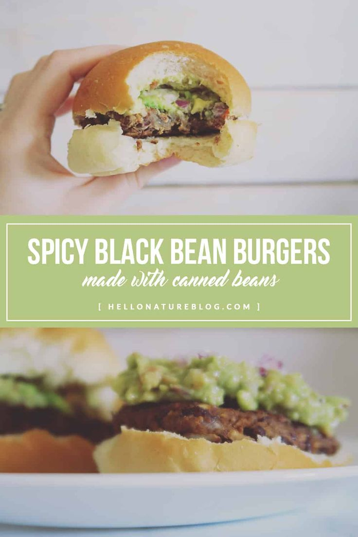 Add a little bit of zest to your life with this spicy black bean burger recipe. Made with canned beans and simple pantry ingredients! AD #SWBeans #IC