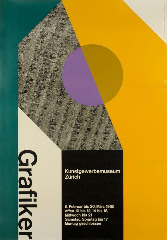 Grafiker Kunstgewerbemuseum Zürich by Honegger G / 1955