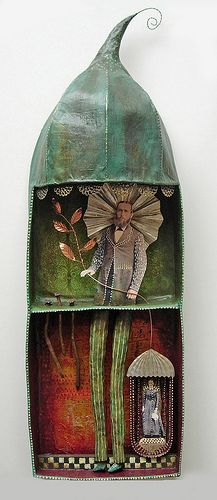 ⌼ Artistic Assemblages ⌼  Mixed Media & Collage Art - Hades by Julie Lili