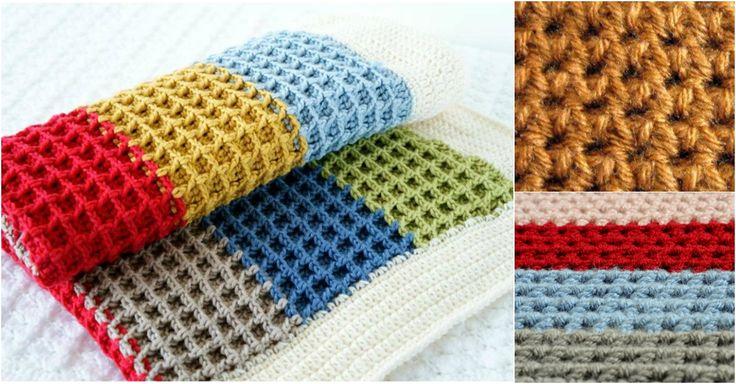 Bebek battaniyesi yaparken kullanabileceğiniz tığ işi ile yapılan waffle gofret örgü modeli yapılışını sizler için sitemizde yayınladık.