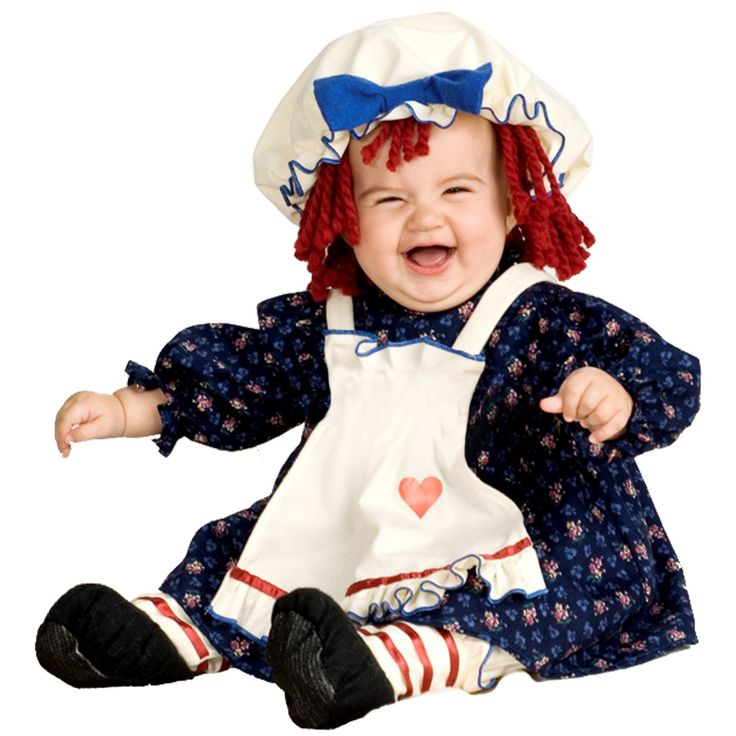 yarn babies ragamuffin dolly infant costume toddler kids costumes includes hat with attached yarn hair dress with apron and pantaloons - Where To Buy Infant Halloween Costumes