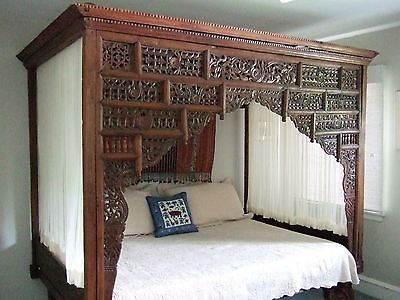 Balinese Canopy Bed * Bali Antique