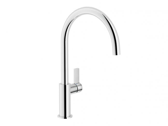 Teknobili Gooseneck Kitchen Mixer. Included as a standard option in our Better Inclusions package. #bathroomideas #tapware #BetterBuilt #luxurybathroom #decor