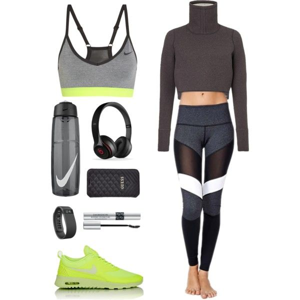 A fashion look from October 2015 featuring Vimmia activewear pants, NIKE sports bras and NIKE sneakers. Browse and shop related looks.