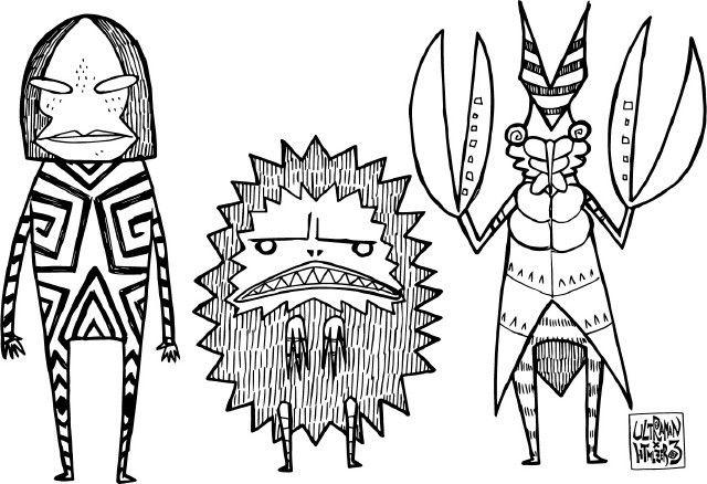 ウルトラマンhtml Zero3ゼットンやピグモンが描かれたアパレル雑貨 2020 ウルトラマン イラスト アートワーク ゼットン