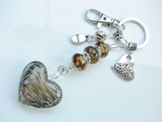 European Beads Key Chain or Purse Charm or Car Charm by TwinDivas, $9.50
