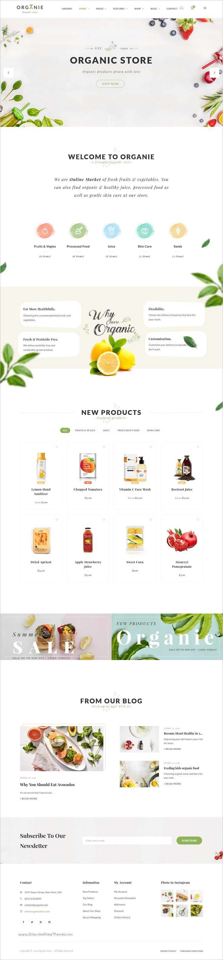 Organie is a wonderful responsive 12in1 @WooCommerce #WordPress theme for organic #shop, farm, cake and flower shop eCommerce website download now➩ https://themeforest.net/item/organie-an-organic-store-farm-cake-flower-shop-woocommerce-theme/18777939?ref=Datasata