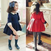 toptan- yeni sonbahar Kış 2.014 çocuklar yılbaşı kız bebek prenses uzun kollu parti doğum günü dantel tutu elbiseler ly-758(China (Mainland))