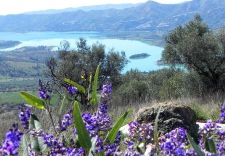 Springtime over Lake Viñuela, Periana
