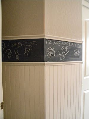 chalk board border. awesome idea.