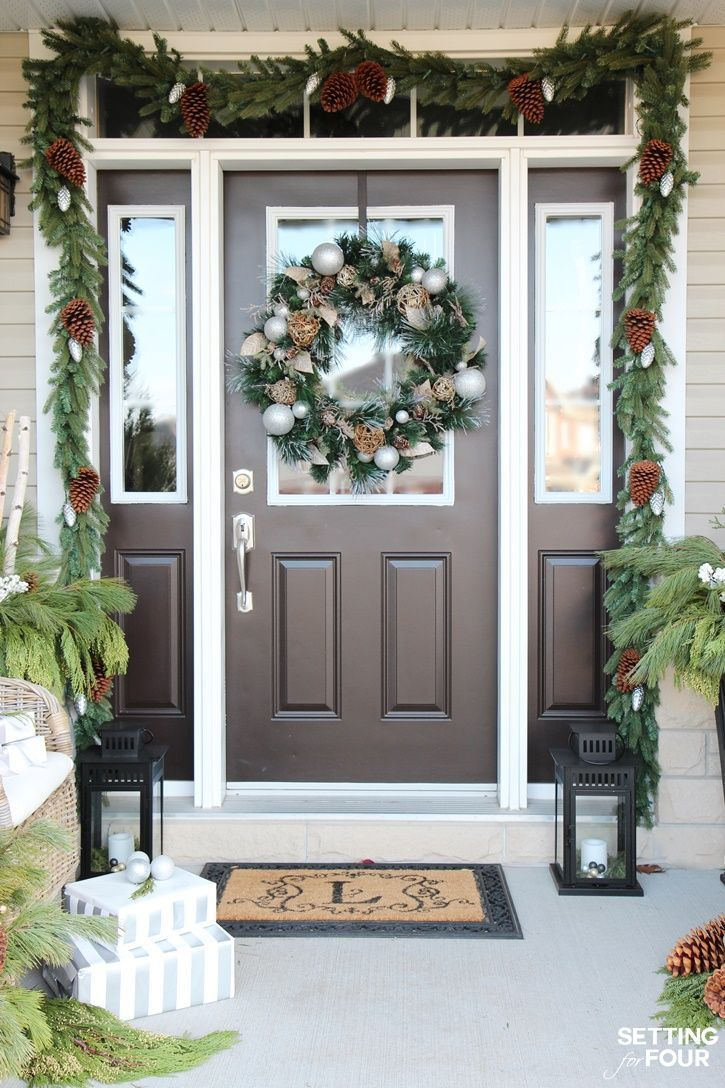 Outside christmas door decorations - Come See All Of My Holiday Cheer Outdoor Christmas Decorations And Christmas