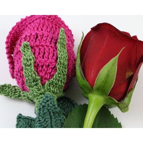 Free Crochet Long Stem Rose Pattern : 17 Best images about Crocheting and knitting on Pinterest ...