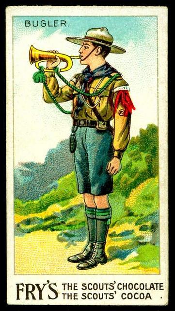 Trade Card - Boy Scout - Bugler by cigcardpix, via Flickr