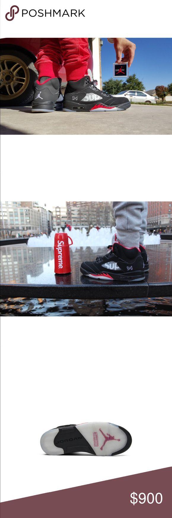 Supreme X Air Jordan 5 Retro Black Supreme X Air Jordan 5 Retro Black Supreme X Air Jordan 5 Retro Black Shoes Sneakers