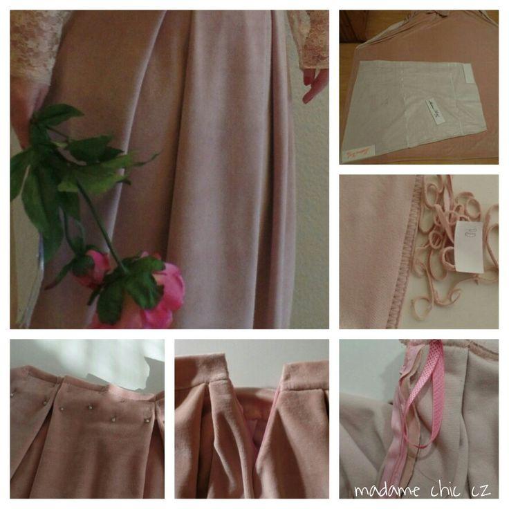 Maxi velvet skirt
