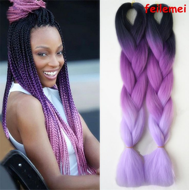 Image result for ombre lilac box braids