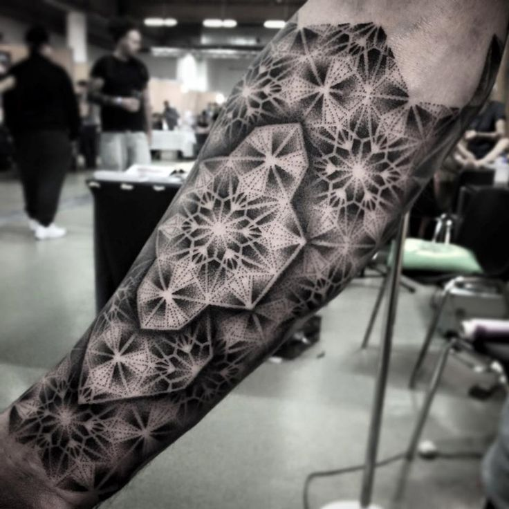 Geometric Sleeve http://tattooideas247.com/geometric-pattern/
