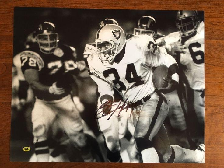 Bo Jackson Los Angeles/Oakland Raiders Hand Signed Autographed 16x20 Photo