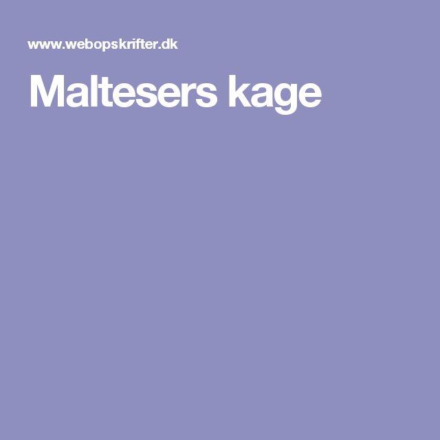 Maltesers kage