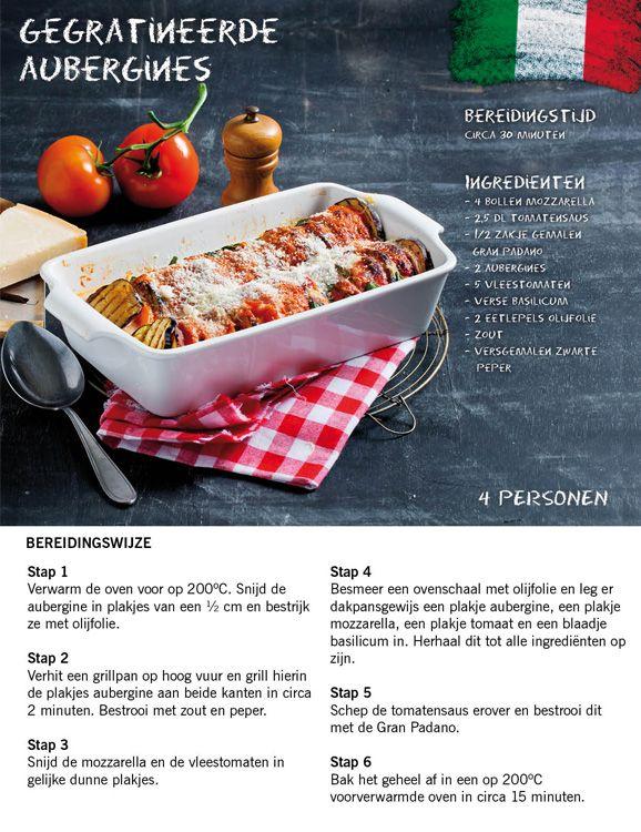 Heerlijk recept voor Italiaanse gegratineerde aubergines #Italie #Lidl #Italiamo