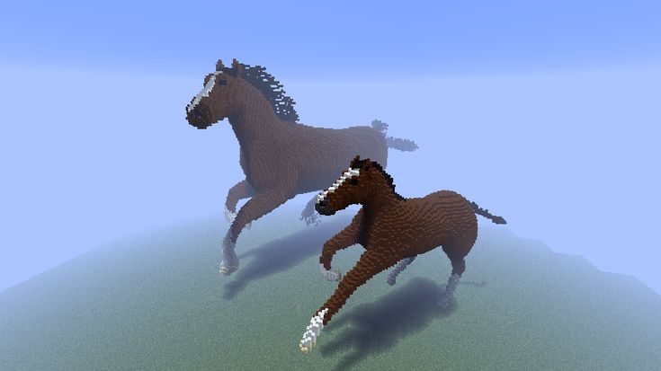 Minecraft - Horses - Amazing what some people can build