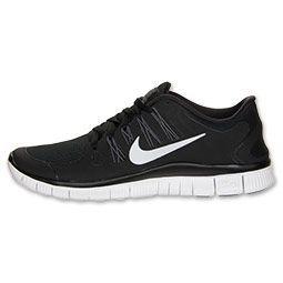 Womens Nike Free 5.0+ Running Shoes | FinishLine.com | Black/Dark Grey/White/Metallic Silver