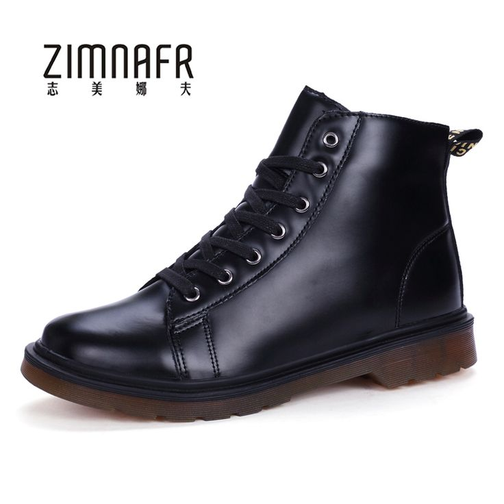 White Leather Bota Masculina Men's Winter Shoes Safety Work Boots Autumn Ankle Boots For Men Casual Oxfords Shoes Male Footwear #Affiliate