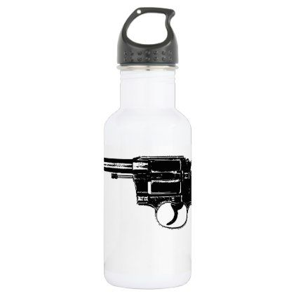 Revolver Silhouettes in Deep Black Stainless Steel Water Bottle - antique gifts stylish cool diy custom