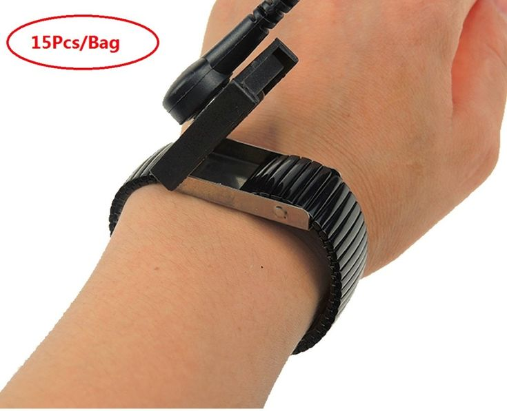 15pcs antistatic esd wristband metal fixed and