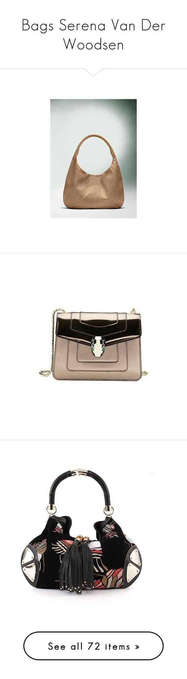 """""""Bags Serena Van Der Woodsen"""" by taught-to-fly19 ❤ liked on Polyvore featuring bags, handbags, shoulder bags, devi kroell handbags, hobo shoulder bags, snake print handbags, hobo handbags, python handbags, bolsas de lado and tassel bags"""