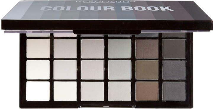 Makeup Revolution Online Only Colour Book Shadow Palette Cb01 With 48 High Payoff Hues 24 Shimmer Hues On The Left Shadow Palette Makeup Revolution Makeup