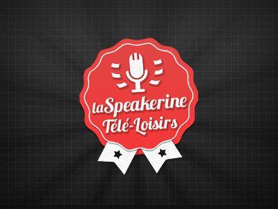 Speakerine Badge by Thibault Rouquet